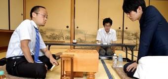 第66期王座戦挑戦者決定戦 ▲斎藤慎太郎七段 − △渡辺明棋王